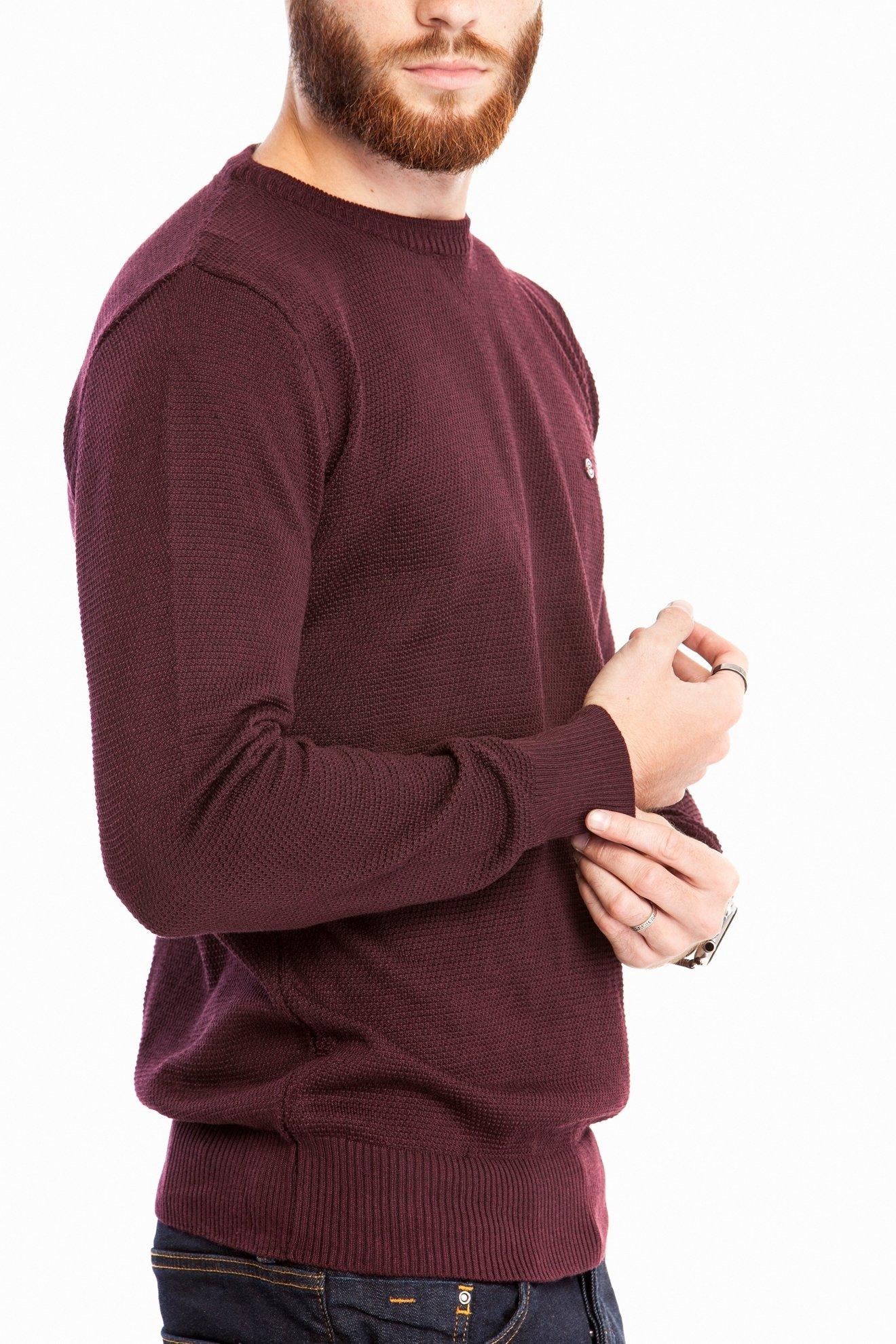 Мужской однотонный бордовый свитер (Арт. POS 2671)