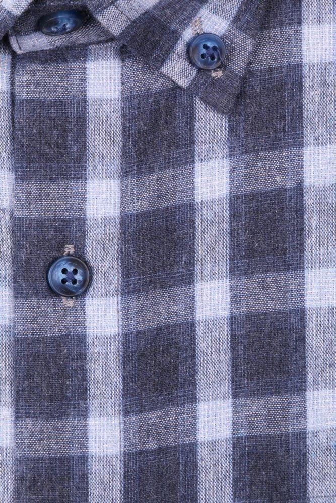 Классическая рубашка в клетку с длинным рукавом  (Арт. T 2729)