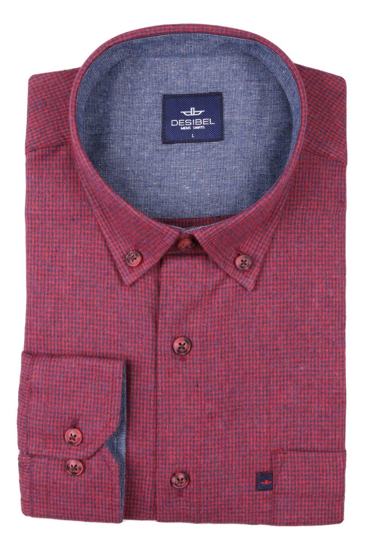 Классическая рубашка в клетку с длинным рукавом  (Арт. T 2739)