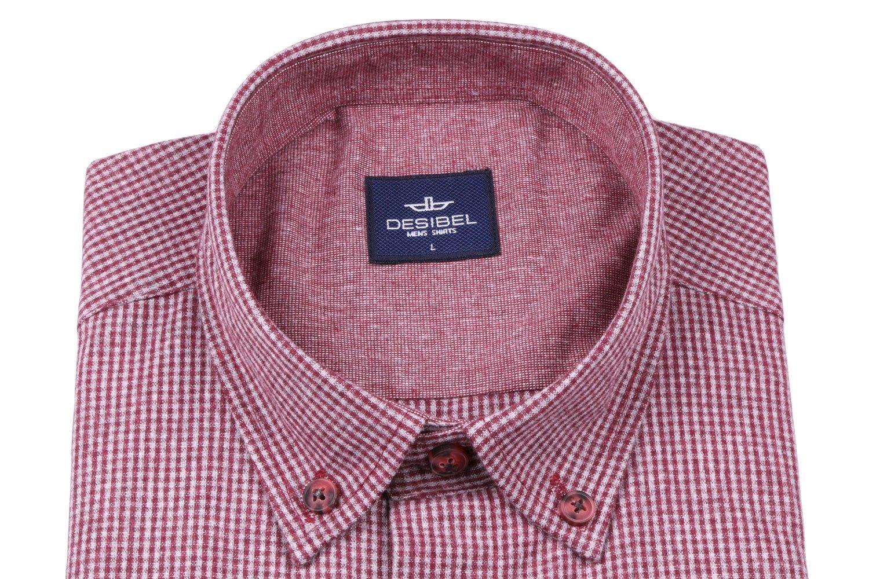 Классическая рубашка в клетку с длинным рукавом  (Арт. T 2740)