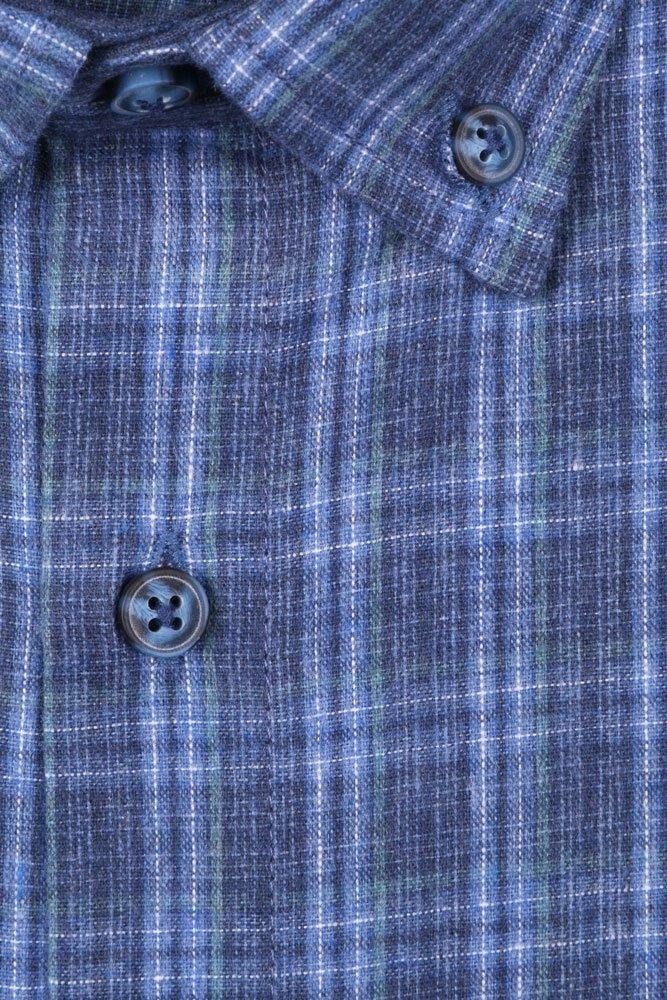 Мужская кашемировая рубашка в клетку (Арт. T 2741)