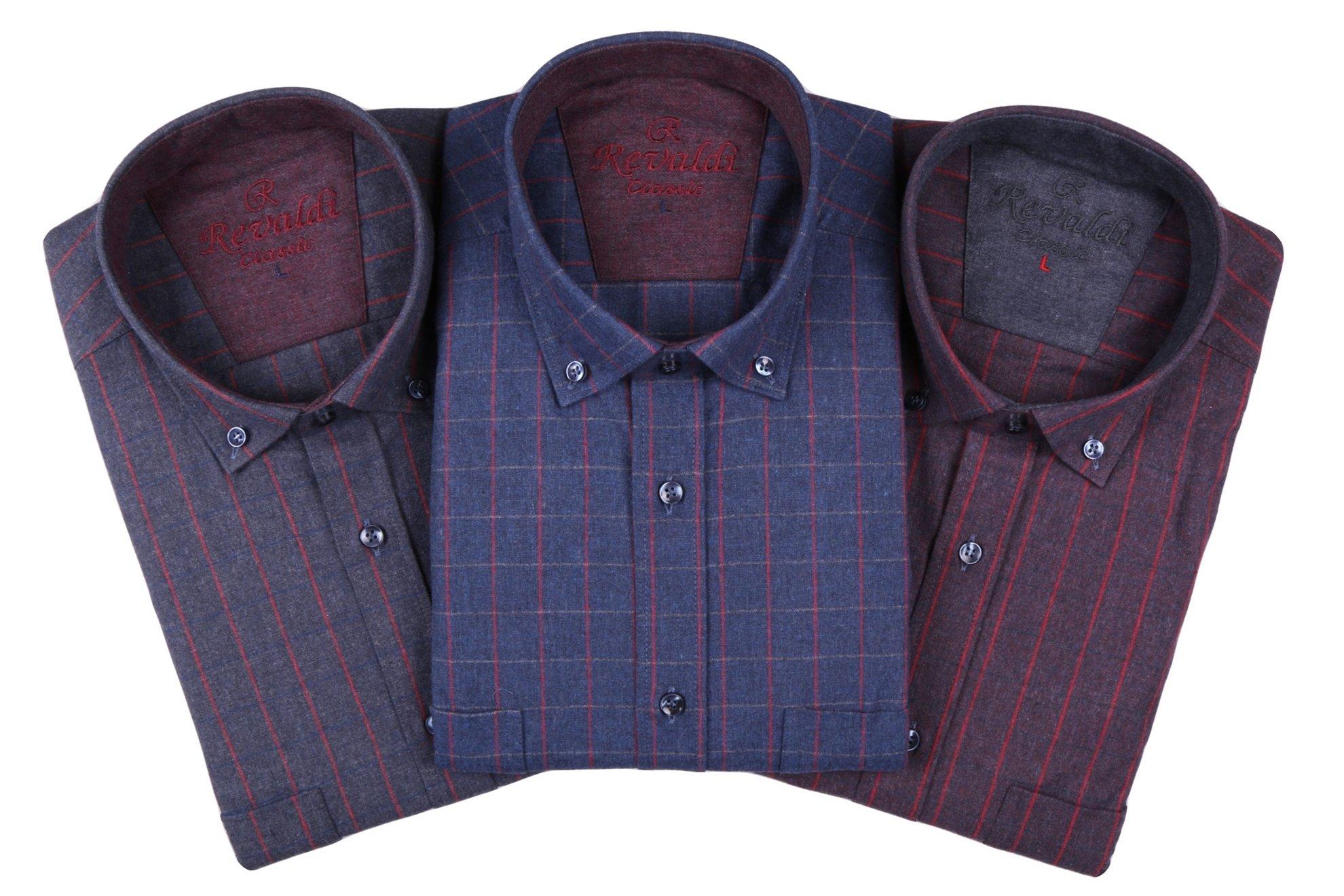 Классическая рубашка в клетку с длинным рукавом  (Арт. T 2751)