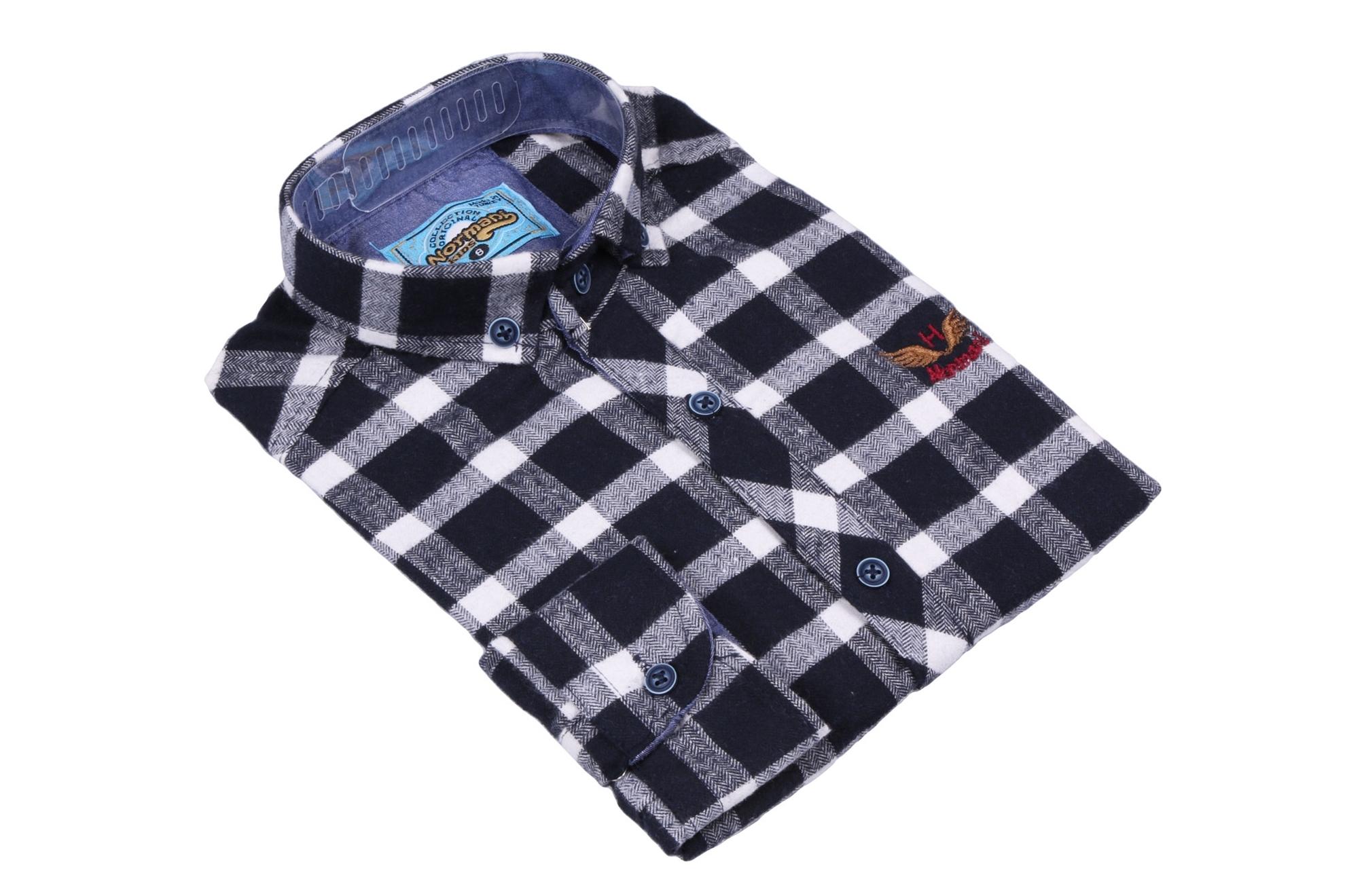 Хлопковая рубашка в клетку для мальчика (Арт. ТВ 2826)