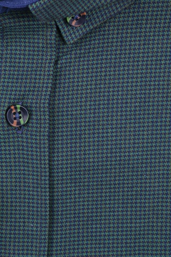 Мужская кашемировая рубашка в мелкую клетку (Арт. T 2843)