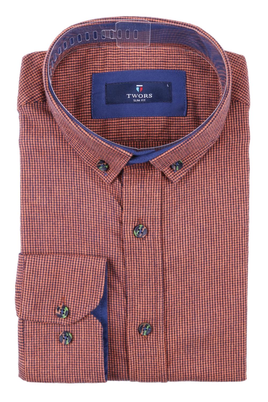 Мужская кашемировая рубашка в мелкую клетку (Арт. T 2844)