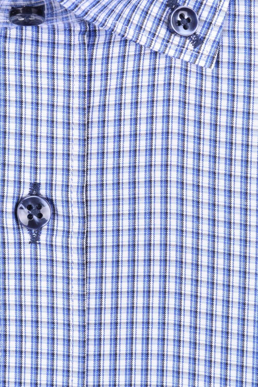 Мужская классическая рубашка в синюю клетку (Арт. T 2990)