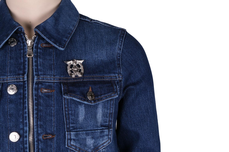 Мужская джинсовая куртка синего цвета  (Арт. TKY 3042)