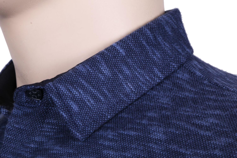 Молодежная рубашка в мелкий узор, длинный рукав (Арт. T 3084)