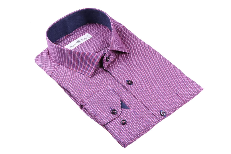 Мужская классическая рубашка в клетку (Арт. T 3084-1)