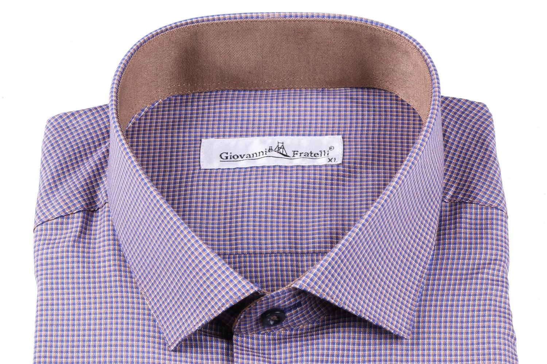 Мужская классическая рубашка в клетку (Арт. T 3086)