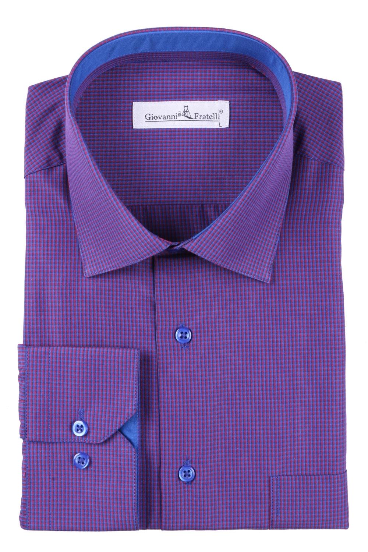 Мужская классическая рубашка в клетку (Арт. T 3090)