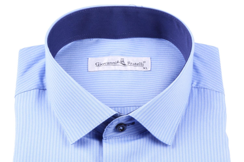 Классическая мужская рубашка в полоску с длинным рукавом  (Арт. T 3092)
