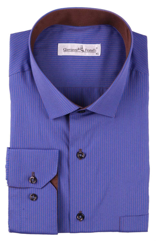 Классическая мужская рубашка в полоску с длинным рукавом  (Арт. T 3093)