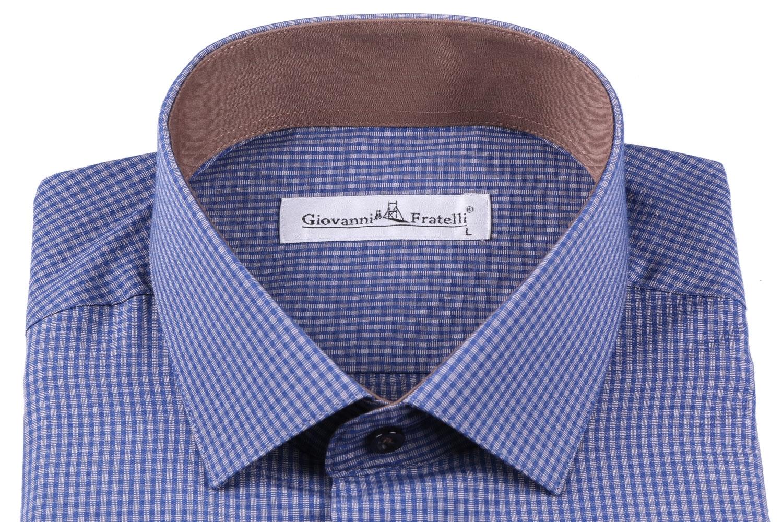 Классическая рубашка в клетку с длинным рукавом  (Арт. T 3103)