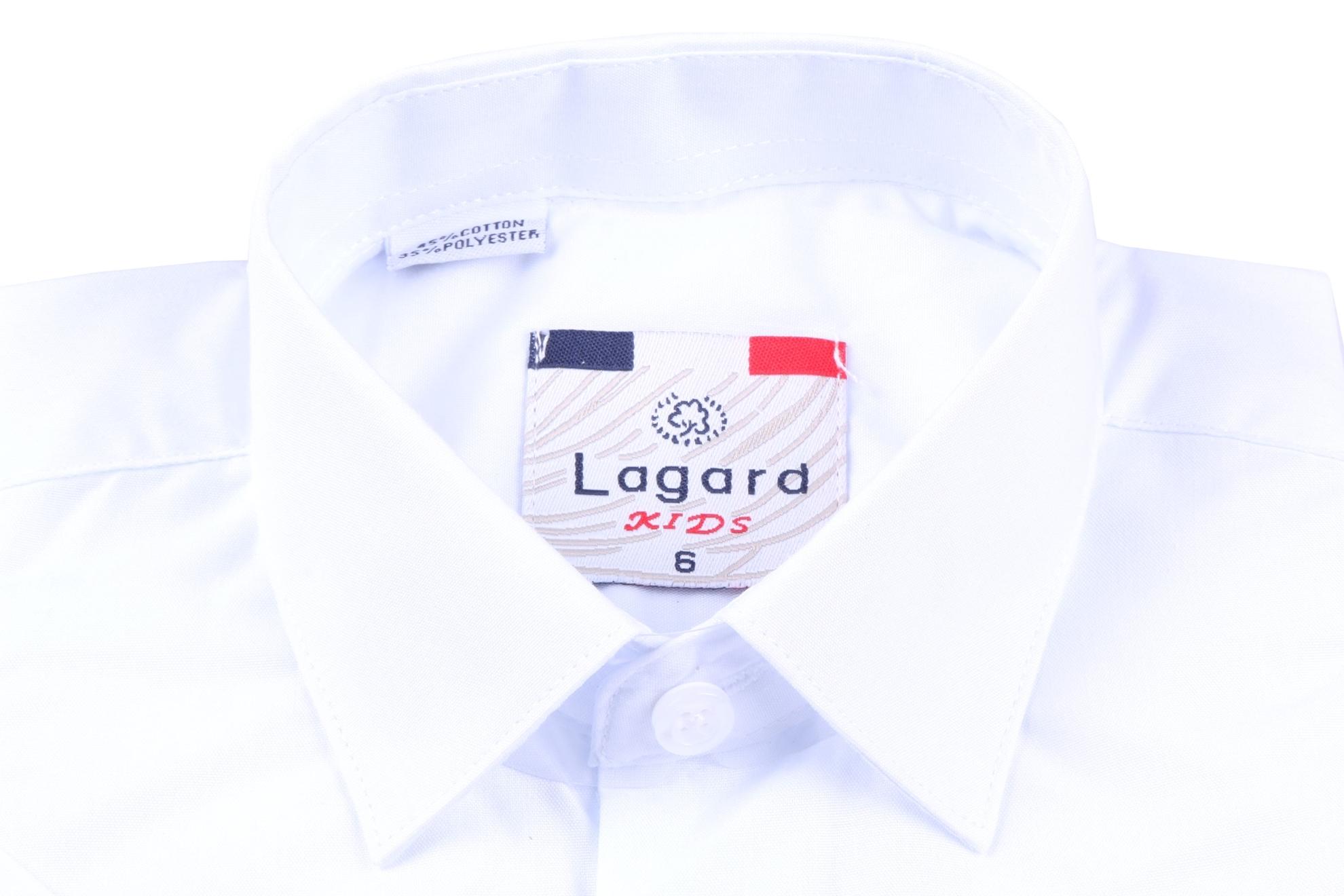 Детская белая рубашка с коротким рукавом (Арт. B SKY 0925K)