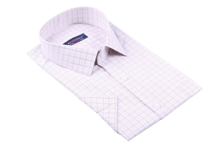 Классическая рубашка в клетку с коротким рукавом (Арт. T 3147K)
