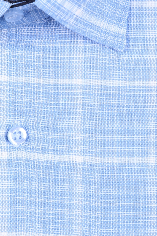 Мужская классическая рубашка в клетку, короткий рукав  (Арт. T 3171К)