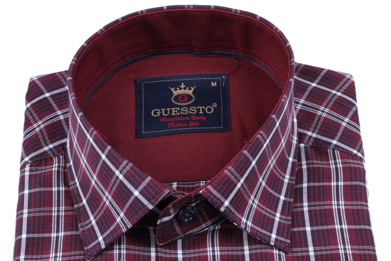 Мужская классическая рубашка в клетку, короткий рукав  (Арт. T 3178К)