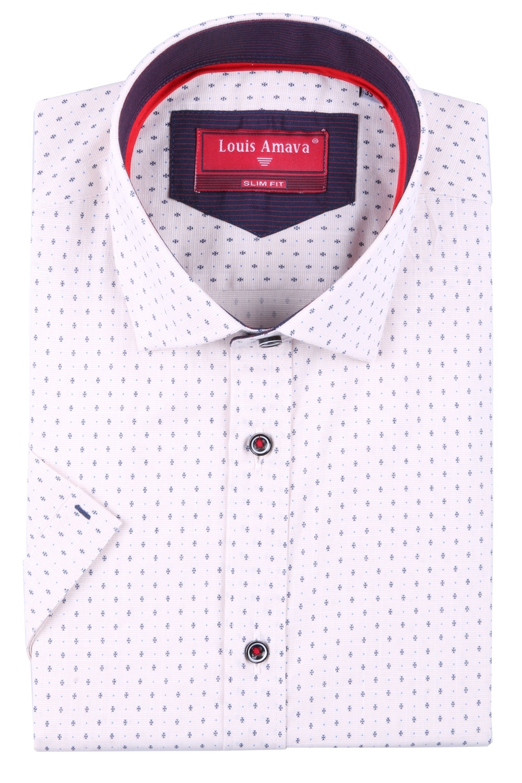 Мужская рубашка в мелкий узор, короткий рукав  (Арт. T 3185К)
