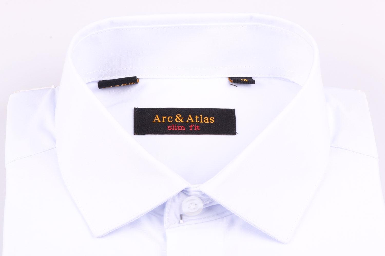 Мужская однотонная рубашка, короткий рукав  (Арт. OD-016KS)