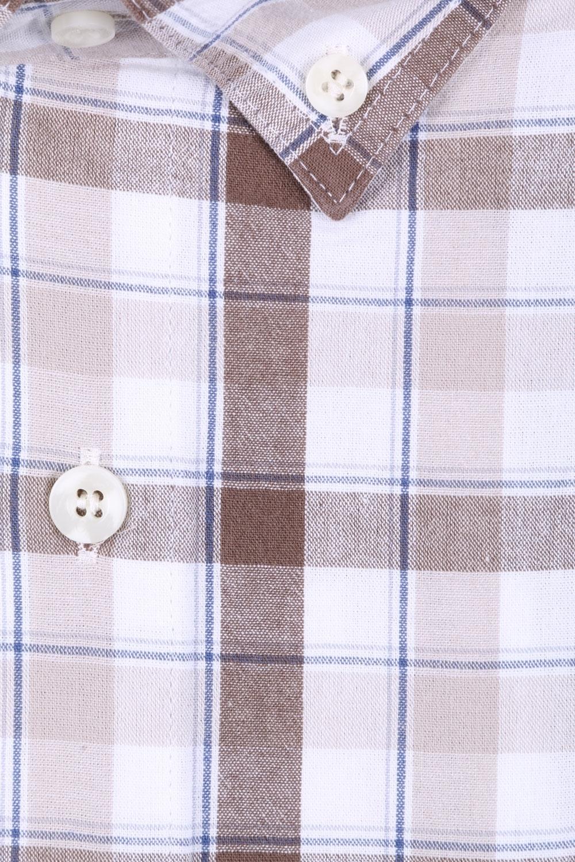 Мужская рубашка в клетку, короткий рукав  (Арт. T 3190К)