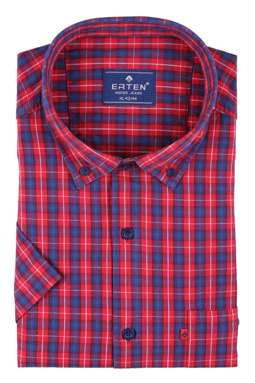 Мужская рубашка в клетку, короткий рукав  (Арт. T 3192К)