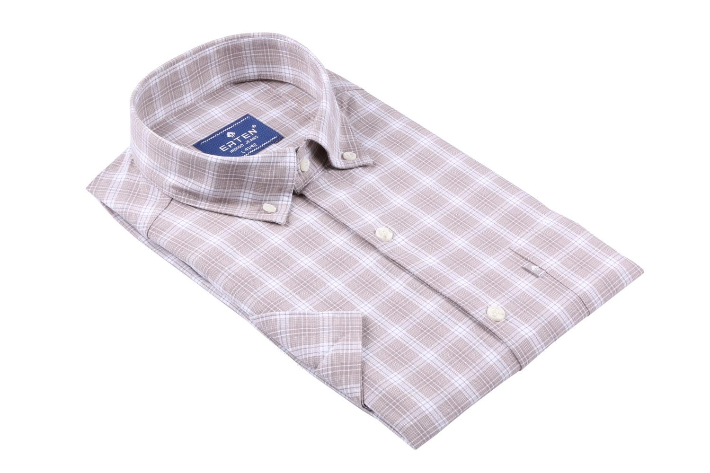 Мужская рубашка в клетку, короткий рукав  (Арт. T 3194К)