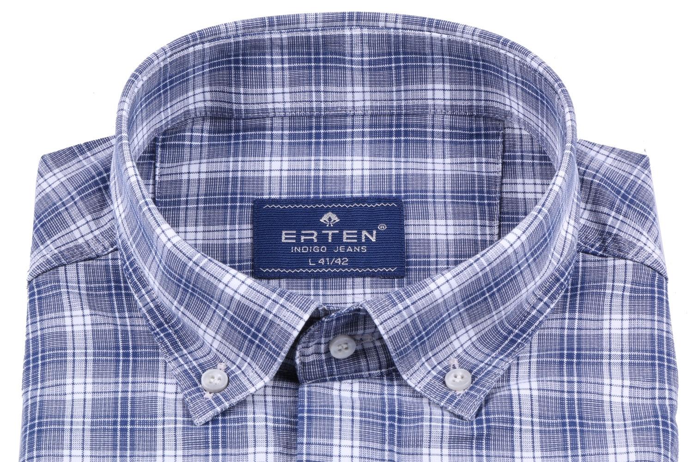 Мужская рубашка в клетку, короткий рукав  (Арт. T 3195К)
