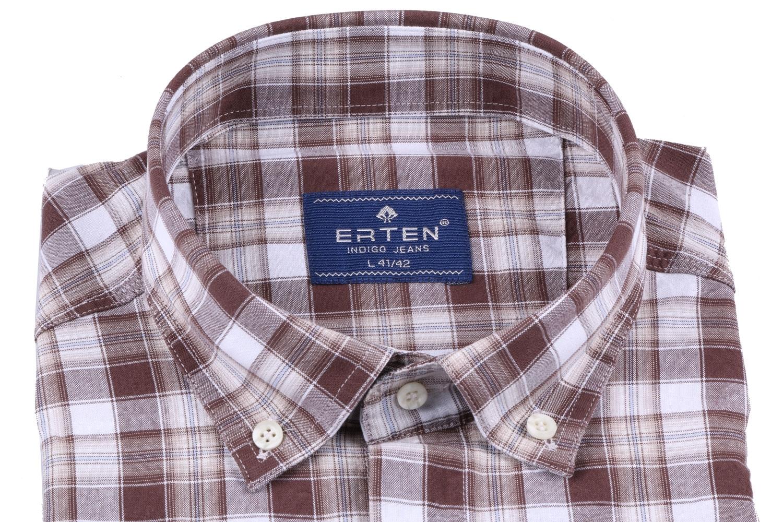 Мужская рубашка в клетку, короткий рукав  (Арт. T 3199К)