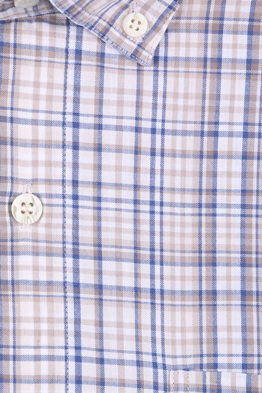 Мужская рубашка в клетку, короткий рукав  (Арт. T 3201К)