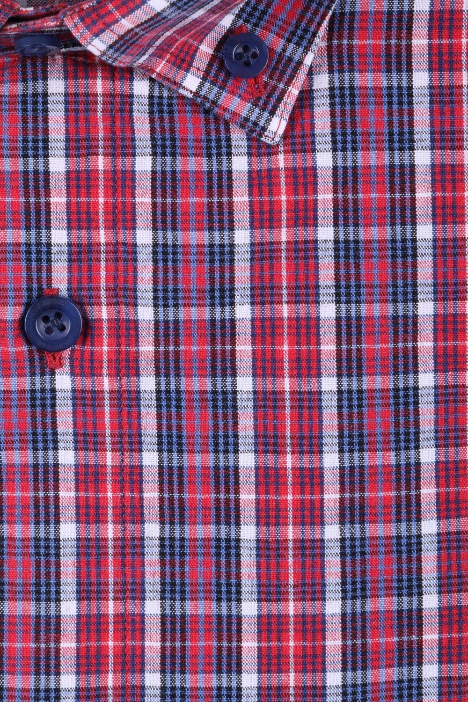 Мужская рубашка в клетку, короткий рукав  (Арт. T 3212К)
