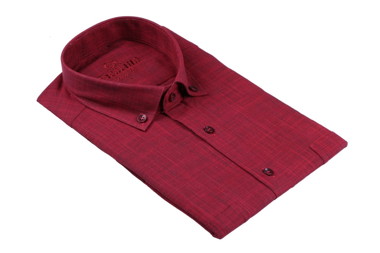 Мужская рубашка однотонная, короткий рукав  (Арт. T 3223К)