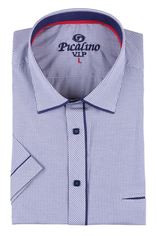 Мужская классическая рубашка в мелкую клетку, короткий рукав  (Арт. T 3250К)