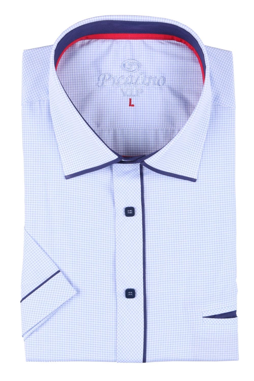 Мужская классическая рубашка в мелкую клетку, короткий рукав  (Арт. T 3251К)