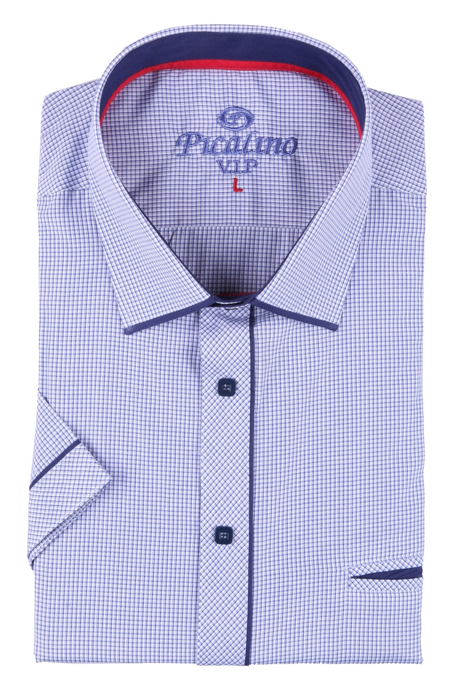 Мужская классическая рубашка в мелкую клетку, короткий рукав  (Арт. T 3252К)