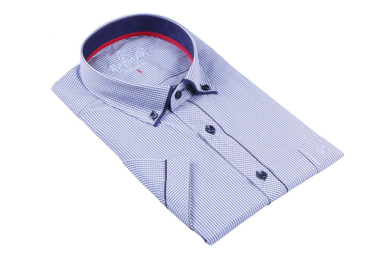 Мужская классическая рубашка в мелкую клетку, короткий рукав  (Арт. T 3253К)