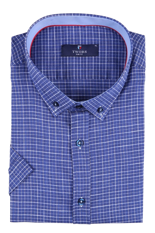Мужская рубашка в клетку, короткий рукав  (Арт. T 3260К)