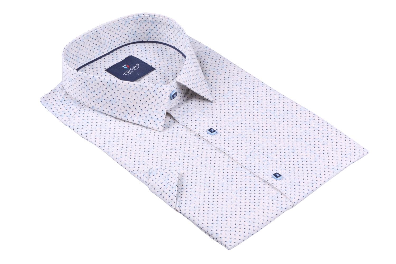 Мужская рубашка в мелкий рисунок, короткий рукав  (Арт. T 3265К)