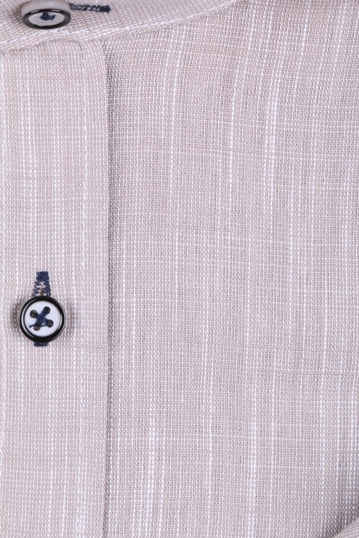 Мужская рубашка однотонная воротник стойка, рукав трансформер  (Арт. T 3268)