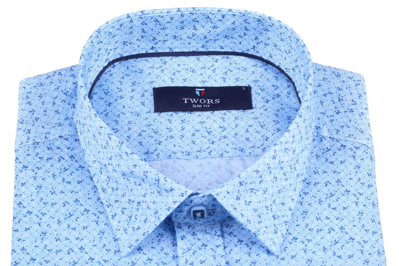 Мужская рубашка в мелкий рисунок, короткий рукав  (Арт. T 3272К)