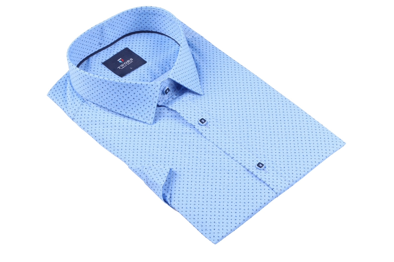 Мужская рубашка в мелкий рисунок, короткий рукав  (Арт. T 3275К)