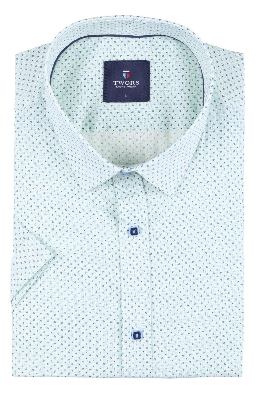 Мужская рубашка в мелкий рисунок, короткий рукав  (Арт. T 3276К)