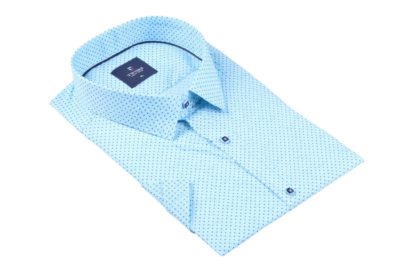 Мужская рубашка в мелкий рисунок, короткий рукав  (Арт. T 3287К)