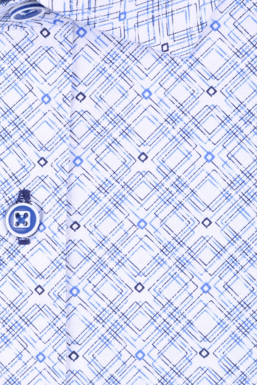 Мужская рубашка в узор, короткий рукав  (Арт. T 3294К)