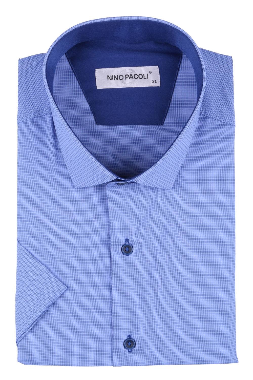 Мужская рубашка в мелкую клетку, короткий рукав  (Арт. T 3299К)