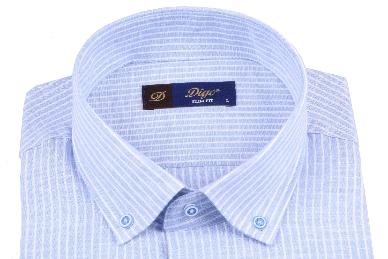 Мужская рубашка в полоску, короткий рукав  (Арт. T 3308К)