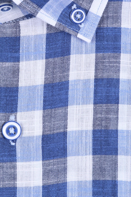 Мужская рубашка в клетку, короткий рукав  (Арт. T 3311К)