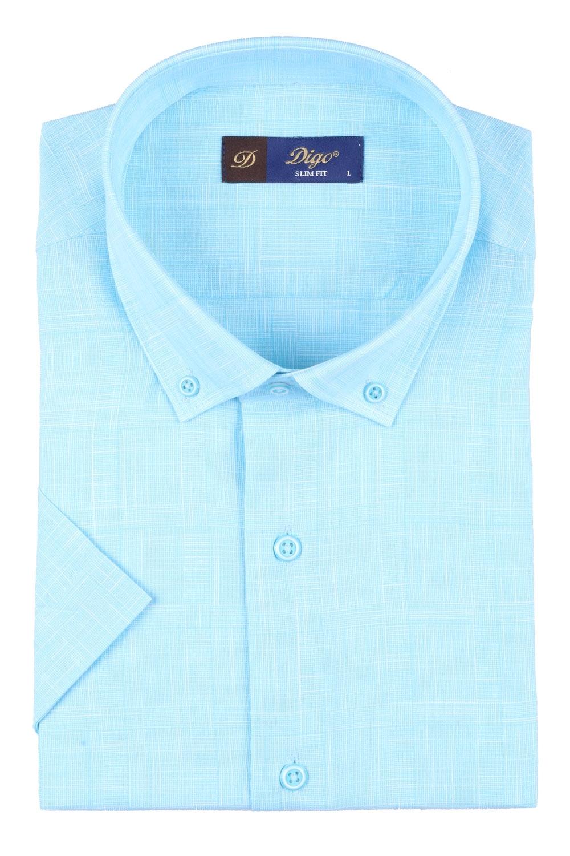 Мужская рубашка в клетку, короткий рукав  (Арт. T 3313К)