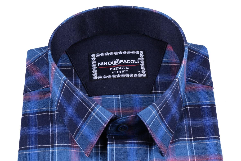 Мужская рубашка в клетку, короткий рукав  (Арт. T 3318К)