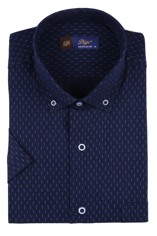 Мужская рубашка в рисунок, короткий рукав  (Арт. T 3332К)